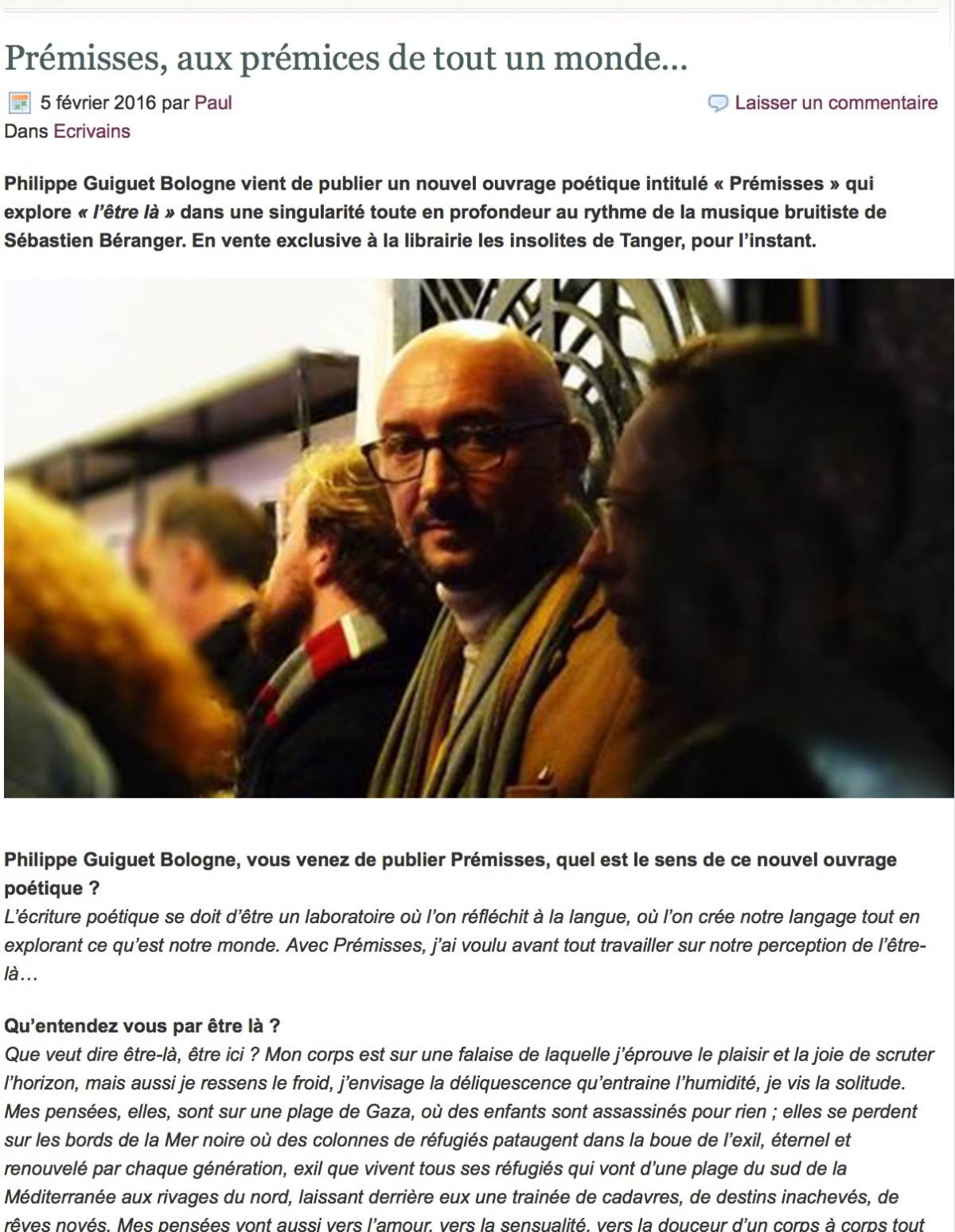 Prémisses__aux_prémices_de_tout_un_monde - Philippe Guiguet Bologne