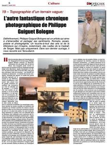 La Dépêche de Tanger du 15 août 2020